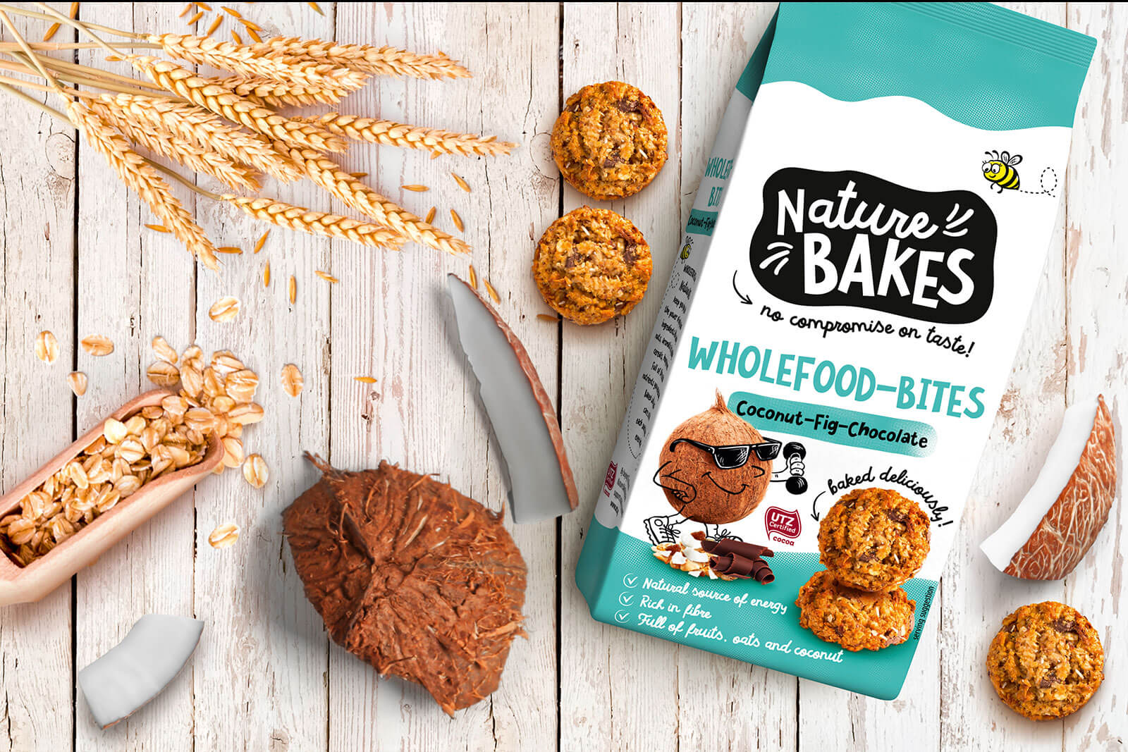 hellema nature bakes wholefood bites design packaging rubicon