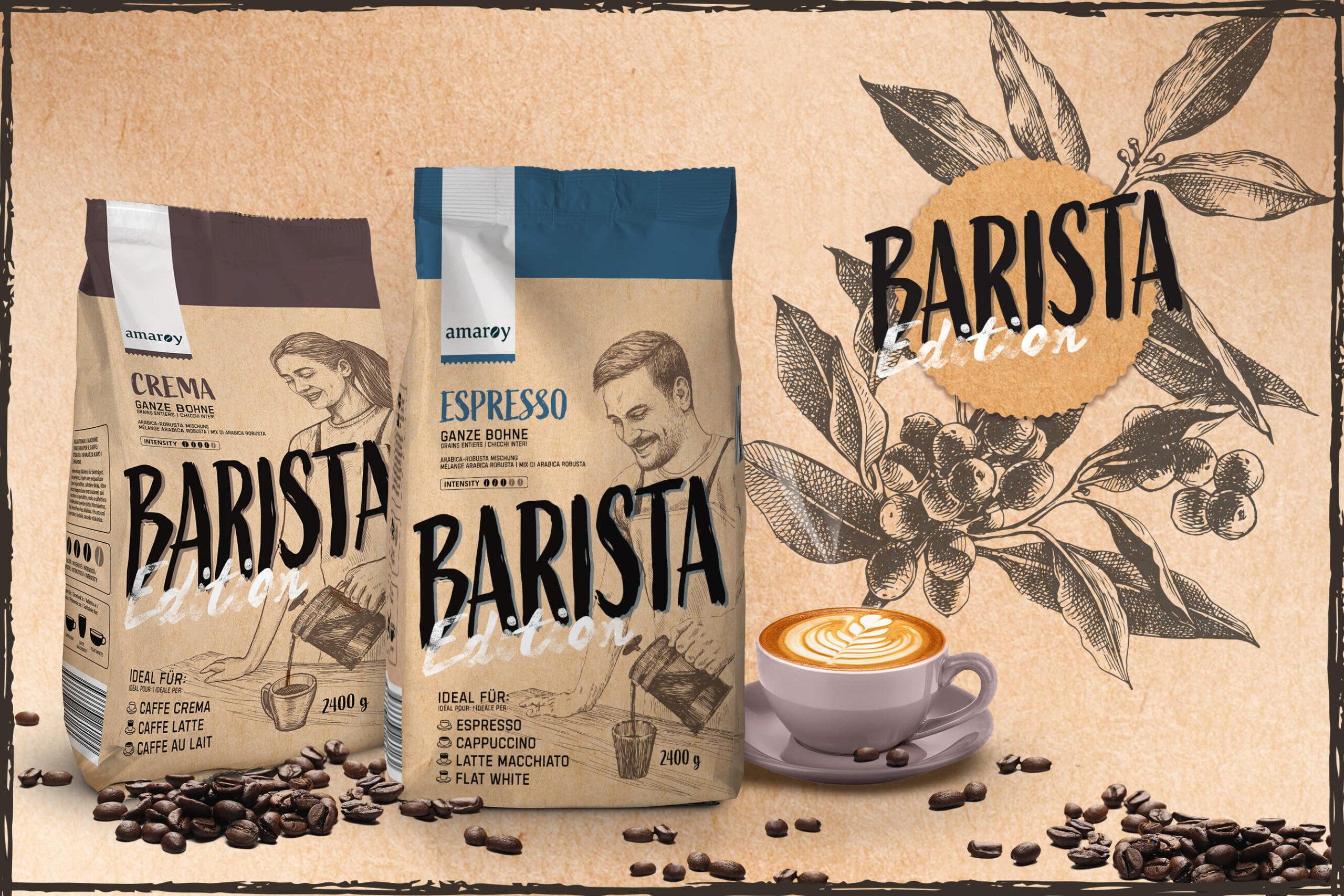 hofer amaroy kaffee espresso barista logo packaging rubicon